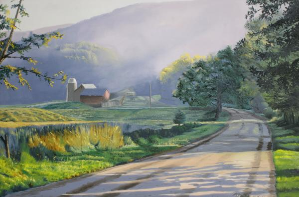 Landscapes Painting - Morning Mist by Kenneth Young