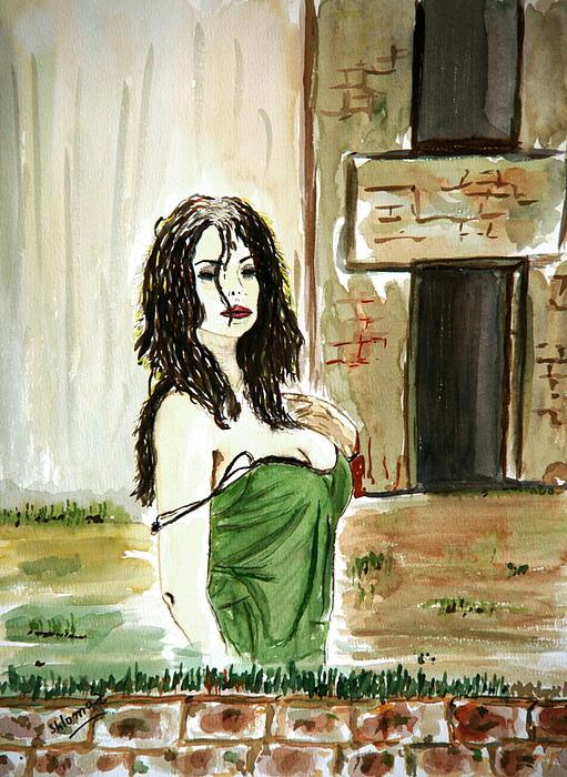 Woman Greeting Cards Painting - Morning Passion by Shlomo Zangilevitch