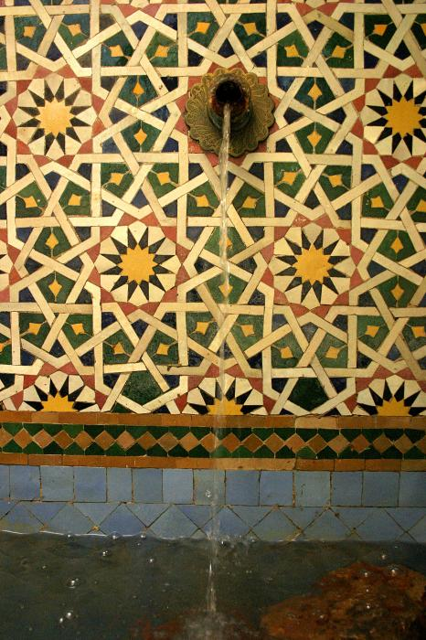 Morocco Photograph - Moroccan Water Fountain by Ralph A  Ledergerber-Photography