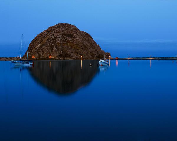 Morro Rock Photograph - Morro Bay Calm Morning by Terry Garvin