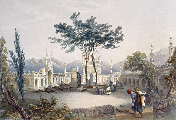 Print Drawing - Mosque Of Goolaum Hoossein Huzrut-jee by James Rattray
