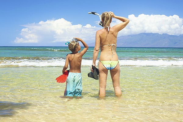 Activity Photograph - Mother Son Snorkel by Kicka Witte