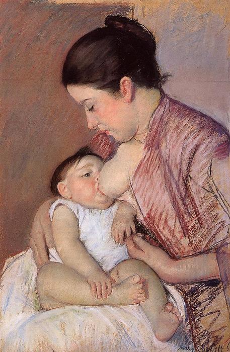 Marry Cassatt Digital Art - Motherhood by Marry Cassatt
