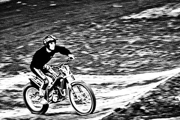Motorcross Photograph - Motoring The Hills by Karol Livote