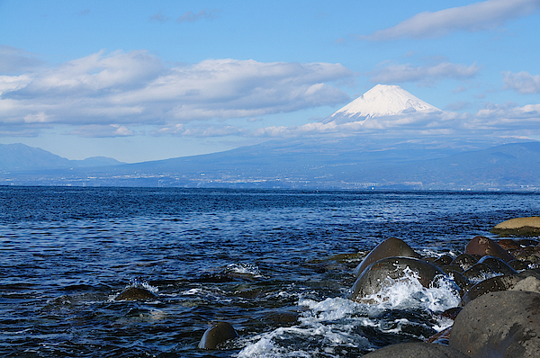 Mount Fuji And Blue Sea Photograph by Takeshi.K