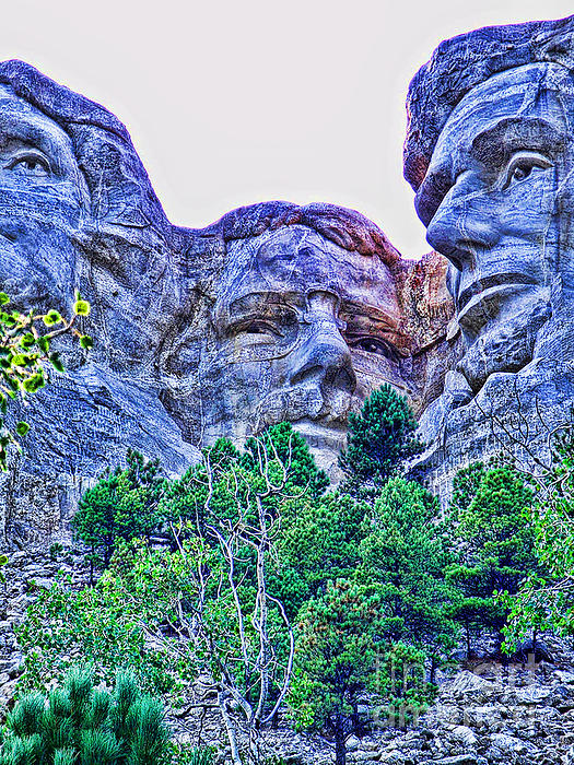 Mount Rushmore Photograph - Mount Rushmore Roosevelt by Tommy Anderson