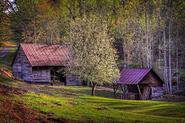 Appalachia Photograph - Mountain Barns In North Carolina by Debra and Dave Vanderlaan