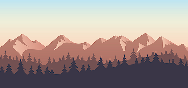 Mountain Wilderness Landscape Background Drawing by Filo