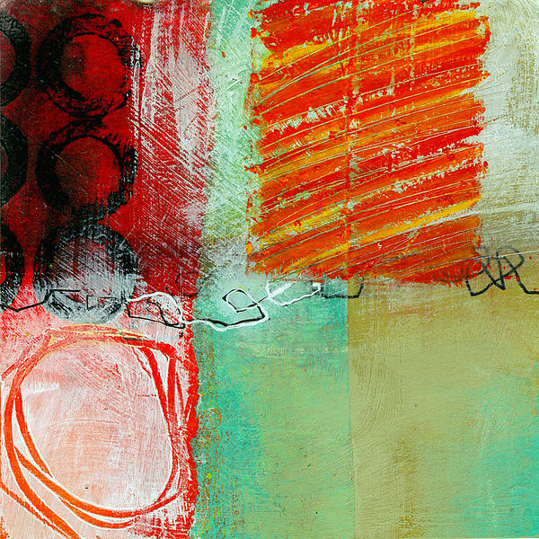 Abstract Painting - Moving Through 4 by Jane Davies
