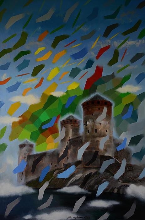 Abstract Painting - Mozart by Jukka Nopsanen