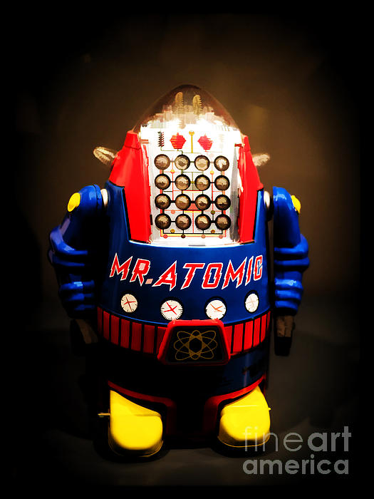Robot Photograph - Mr. Atomic Tin Robot by Edward Fielding