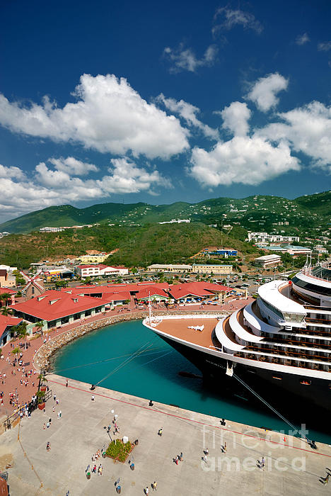 Caribbean Photograph - Ms Noordam St Thomas Virgin Islands by Amy Cicconi