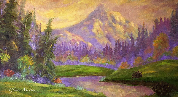 Mountains Painting - Mt. Hood At Dawns Early Light by Glenna McRae