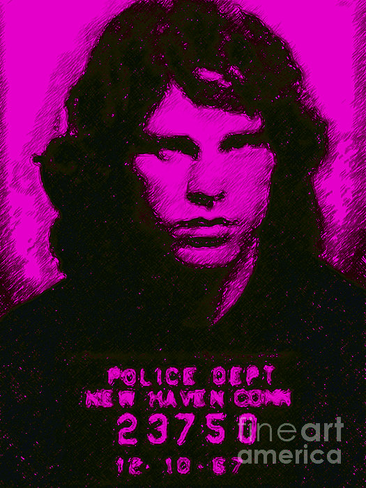 Jim Morrison Photograph - Mugshot Jim Morrison M88 by Wingsdomain Art and Photography
