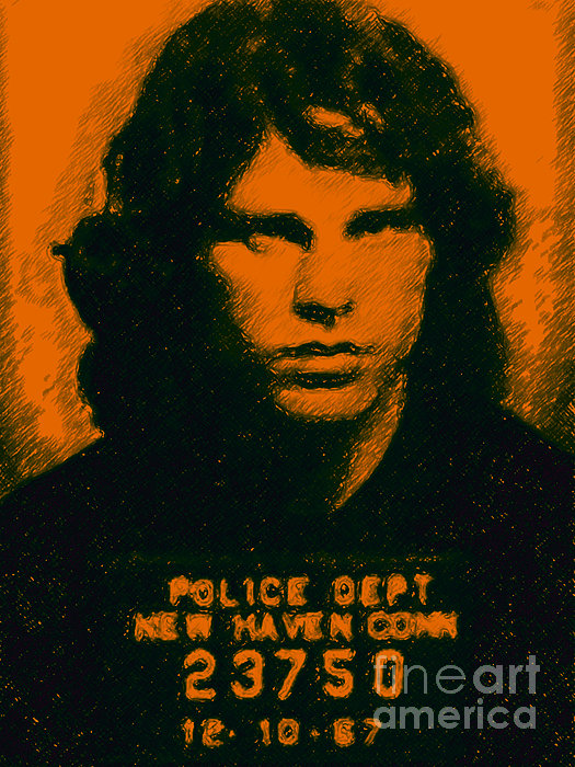 Jim Morrison Photograph - Mugshot Jim Morrison by Wingsdomain Art and Photography