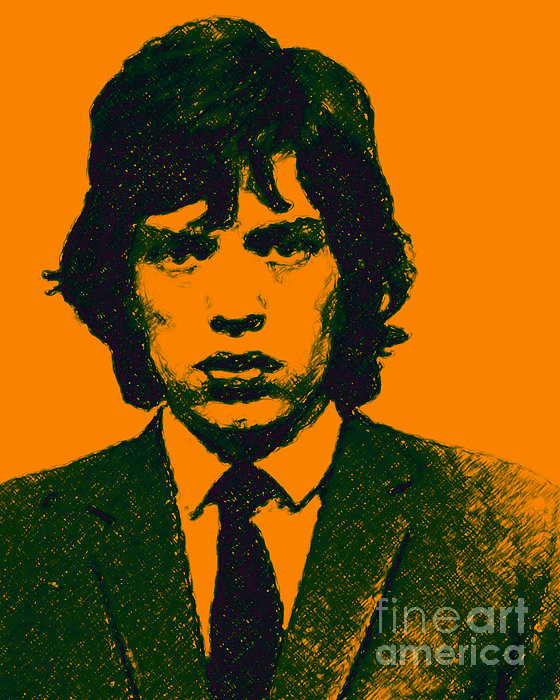 Mick Jaggar Photograph - Mugshot Mick Jagger P0 by Wingsdomain Art and Photography
