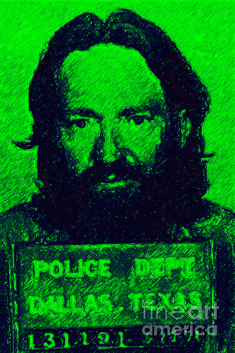 Willie Nelson Photograph - Mugshot Willie Nelson P88 by Wingsdomain Art and Photography