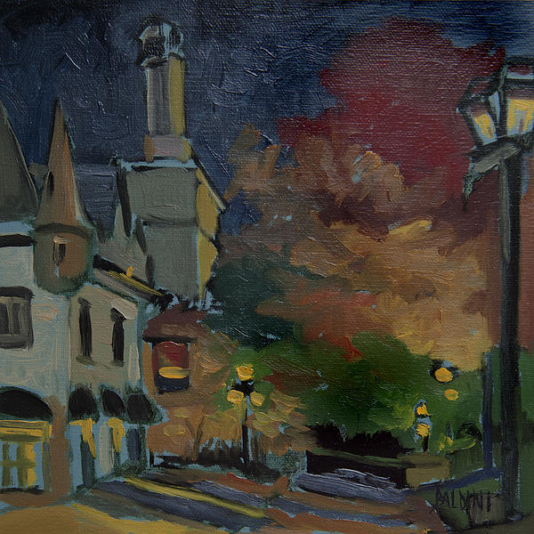 Old Quebec City Painting - Musee Du Fort Night Study by J R Baldini