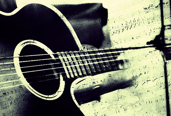 Music Photograph - Music From The Heart II by Jenny Rainbow