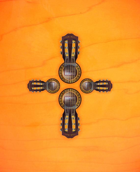 Cool Digital Art - Musical Cross by Doron Mafdoos