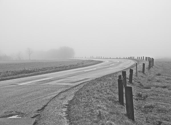 Road Photograph - Mute Landscape by Odd Jeppesen