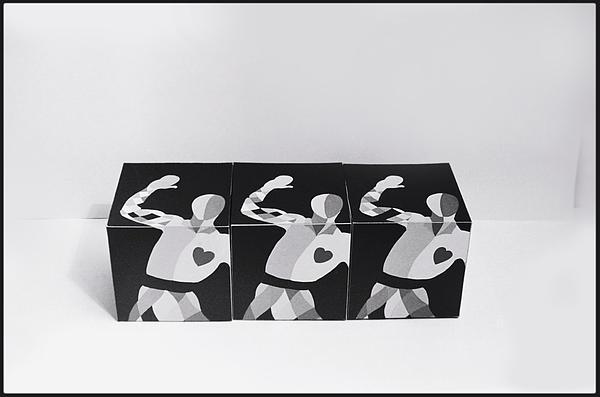 Bauhaus Ballet Painting - My Bauhaus Harlequin by Charles Stuart