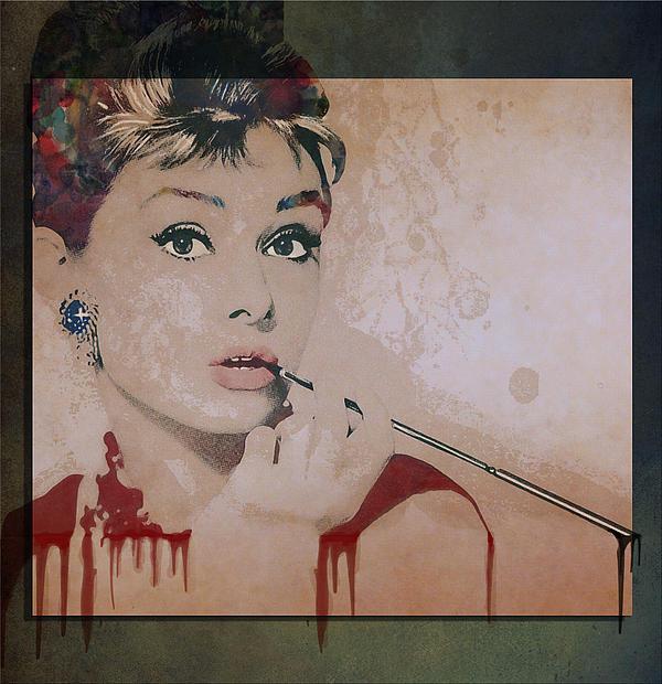 Hepburn Digital Art - My Fair Lady by Marie  Gale