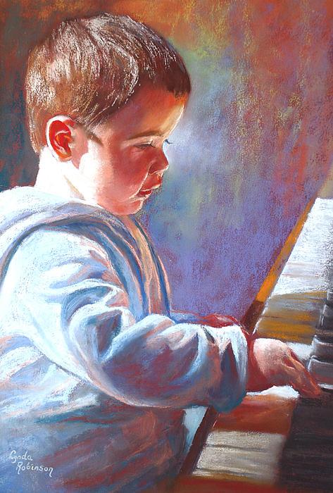 Lynda Robinson Painting - My Little Mozart by Lynda Robinson
