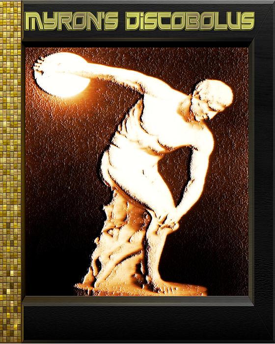 Greek Sculpture Digital Art - Myrons Diskobolus by Museum Quality Prints -  Trademark Art Designs