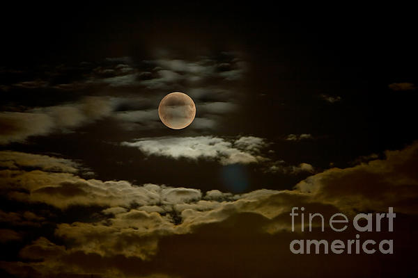 Autumn Photograph - Mysterious Moon by Boon Mee