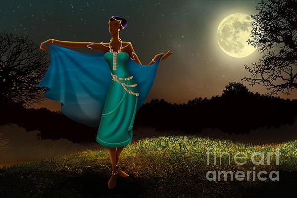 Mystic Digital Art - Mystic Moonlight V1 by Bedros Awak