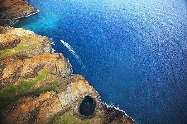 Aerial Photograph - Na Pali Lava Tube by Kicka Witte