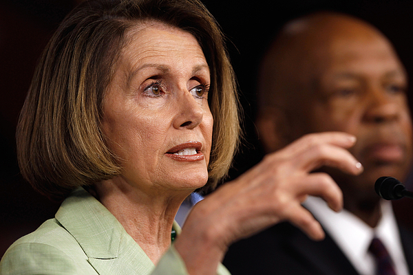 Nancy Pelosi Discusses Energy Policy At Weekly Press Briefing Photograph by Chip Somodevilla