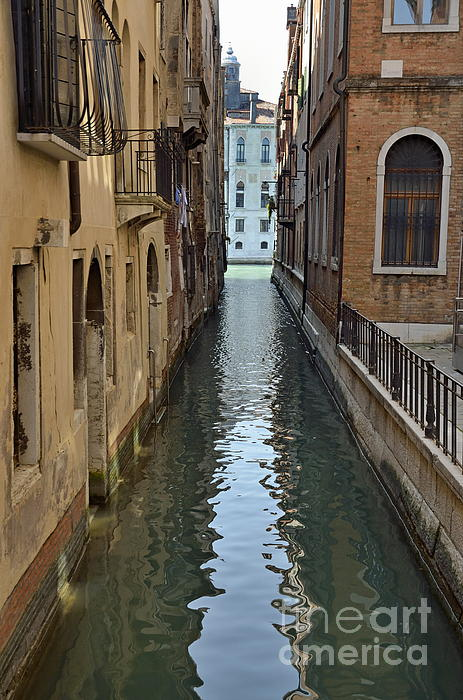 Architecture Photograph - Narrow Canal In Venice by Sami Sarkis