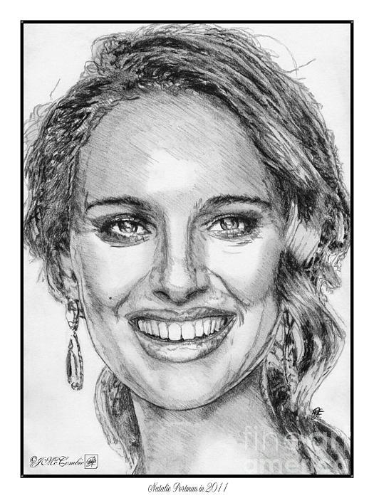 Natalie Portman Drawing - Natalie Portman In 2011 by J McCombie