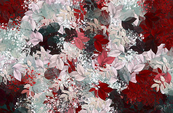 Abstract Digital Art - Naturaleaves - S69-02a by Variance Collections