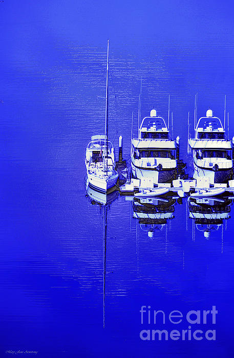 Artwork Photograph - Nautical Reflections by MaryJane Armstrong