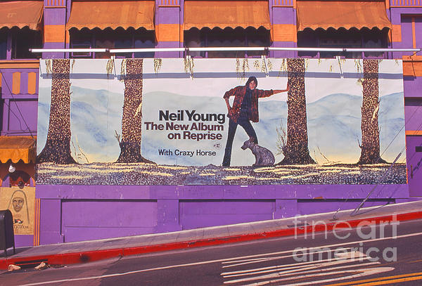 Neil Young Billboard Photograph by Frank Bez