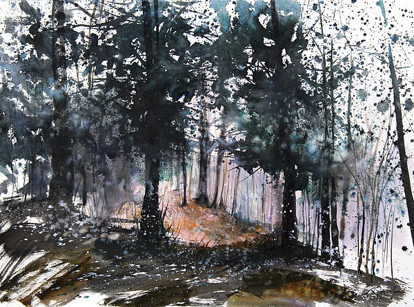 Woods Painting - New England Landscape No.214 by Sumiyo Toribe