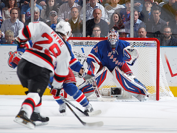 6c8e0f6d8 New Jersey Devils V New York Rangers - Game Two Photograph by Scott Levy