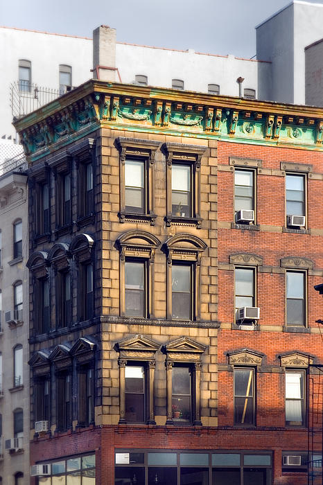 Old Buildings Photograph - New York City - Windows - Old Charm by Gary Heller