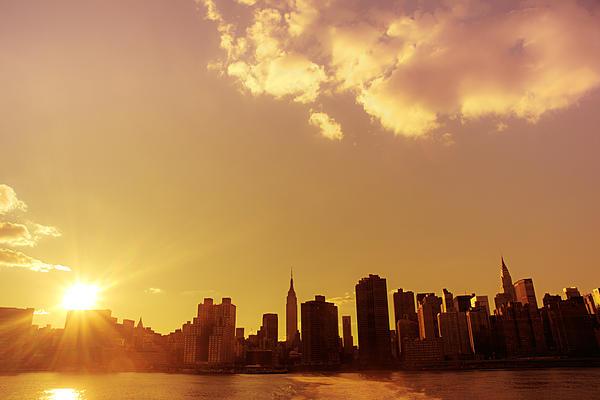 Nyc Photograph - New York Sunset Skyline by Vivienne Gucwa