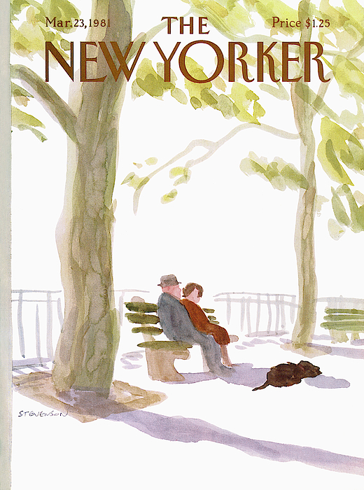 New Yorker March 23rd, 1981 Painting by James Stevenson