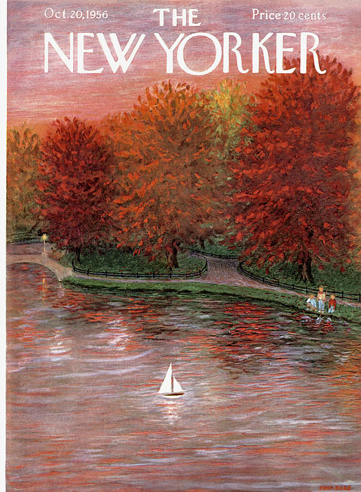 New Yorker October 20th, 1956 Painting by Edna Eicke