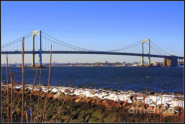 Dora Sofia Caputo Photograph - New Yorks Throgs Neck Bridge by Dora Sofia Caputo Photographic Art and Design