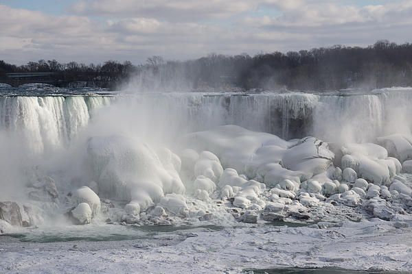 Niagara Falls Photograph - Niagara Falls Awesome Ice Buildup - American Falls New York State Usa by Georgia Mizuleva