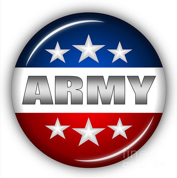 Army Digital Art - Nice Army Shield by Pamela Johnson