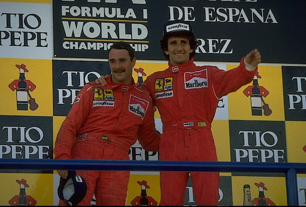 Nigel Mansell And Alain Prost. Photograph by Pascal Rondeau