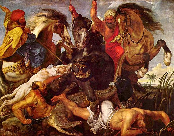 Peter Paul Rubens Digital Art - Nilpferdjagd by Peter Paul Rubens