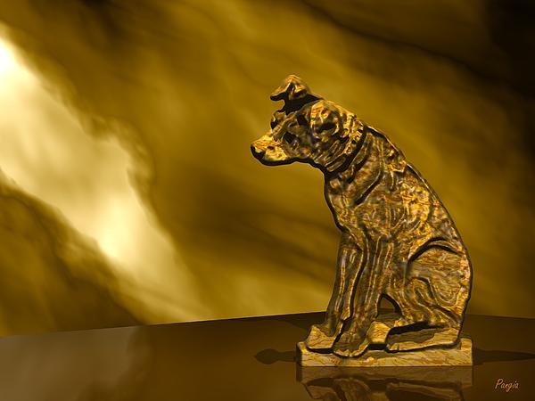 Rca Digital Art - Nipper In Bronze by John Pangia